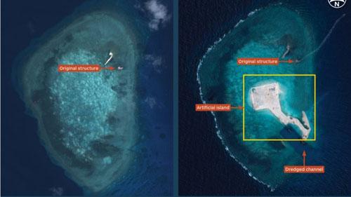 Philippines quan ngại hoạt động cải tạo của Trung Quốc ở Biển Đông