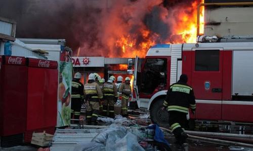 """Re: Cháy lớn tại chợ """"Admiral"""" (Kazal) - Nga"""