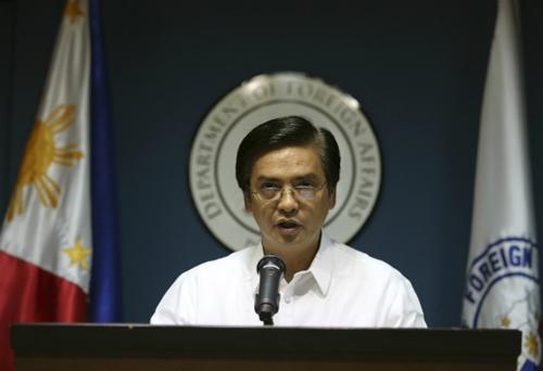 Người phát ngôn Bộ Ngoại giao Philippines Charles Jose. Ảnh: AP.