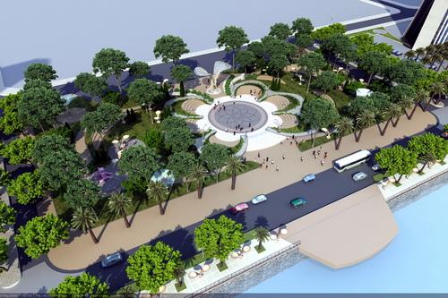 Ngoài khách sạn, trung tâm thương mại, cao ốc văn phòng...thì dự án còn xây dựng công viên cây xanh