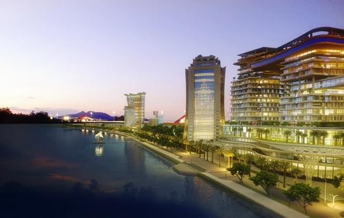 """Toàn cảnh dự án """"Cải tạo cảnh quan và phát triển đô thị ven sông Đồng Nai"""" nằm trên sông sau khi hoàn thành."""