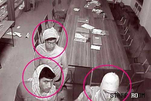 3 trong số thủ phạm được camera an ninh quay lại