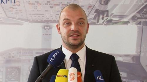 Markus Wahl, phát ngôn viên Hiệp hội Phi công Đức, phát biểu hôm qua. Ảnh: ITV