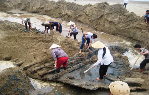 Phát hiện xác tàu cổ ở Thanh Hóa
