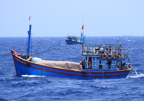 Tàu cá của ngư dân Việt Nam đánh bắt hải sản quanh khu vực biển thuộc chủ quyền Việt Nam trên Biển Đông. Ảnh: Nguyễn Đông