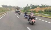 Đoàn môtô phóng trên đường cao tốc cấm xe máy Hà Nội - Lào Cai