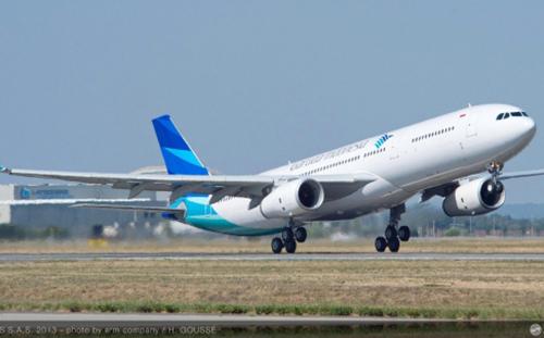 Một máy bay của hãng hàng không Garuda Indonesia