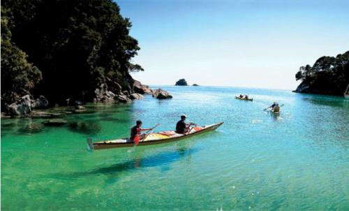 Chèo thuyền Kayak ở Abel Tasman.