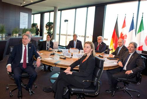 G7 lên án hoạt động bồi đắp ở Biển Đông