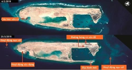 Âm mưu đằng sau hoạt động xây đường băng trên Đá Chữ Thập của Trung Quốc