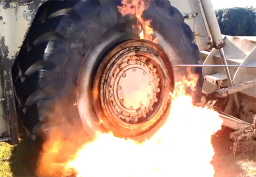 Bơm căng lốp bằng lửa