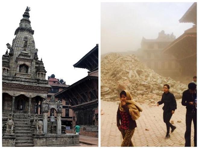 Những di tích bị động đất tàn phá ở Nepal - ảnh 7