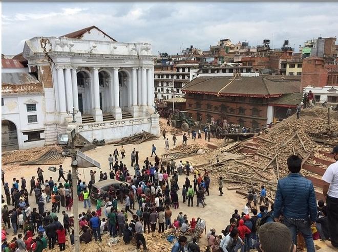 Những di tích bị động đất tàn phá ở Nepal - ảnh 6