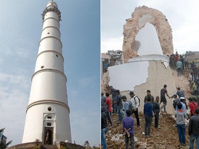 Những di tích bị động đất tàn phá ở Nepal - ảnh 1