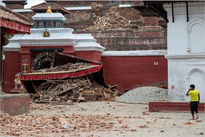 Những di tích bị động đất tàn phá ở Nepal - ảnh 8
