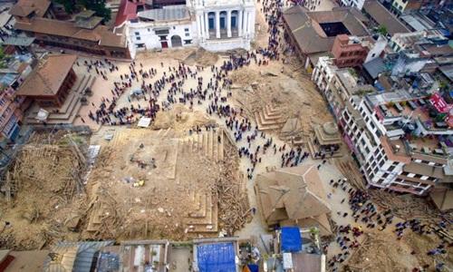 Nơi gần tâm động đất Nepal có thể bị phá hủy hoàn toàn