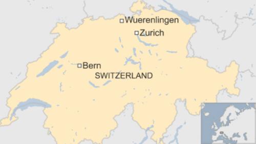 Vị trí thị trấnWuerenlingen ở Thuỵ Sĩ. Đồ hoạ: BBC