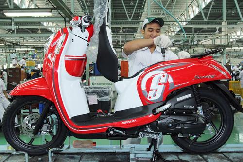 Honda Scoopy mới giá 1.250 USD tại Indonesia.