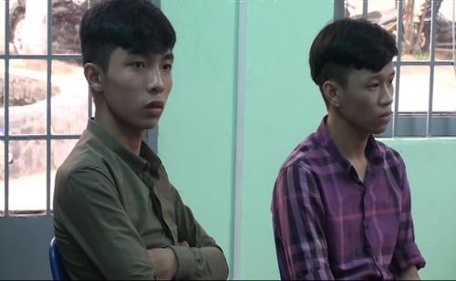 Hai nghi can tham gia vụ truy sát ở UBND phường Trung Dũng bị bắt tạm giam 2 tháng. Ảnh: Hoàng Trường