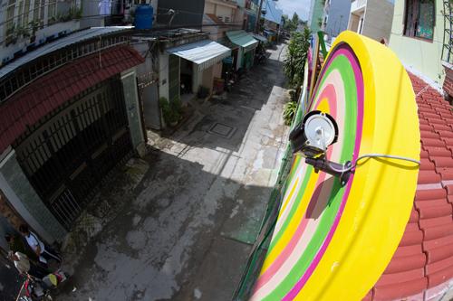 Một camera an ninh đặt trong hẻm ở phường 12, quận Gò Vấp. Ảnh: L.T.H