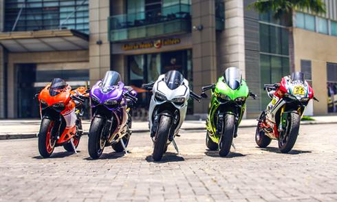 Dàn xe Ducati Panigale hội tụ tại Sài Gòn