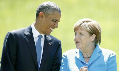 Obama, Merkel gạt bất hòa qua cốc bia, tăng áp lực với Nga