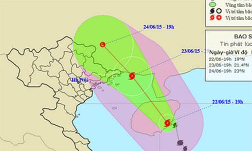 Sáng mai bão Kujira vào vịnh Bắc Bộ