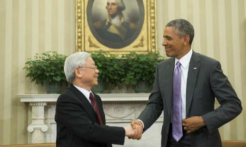 Tổng bí thư và Tổng thống Obama bàn luận về Biển Đông