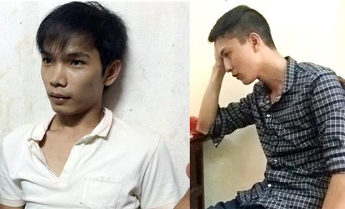 Hai nghi phạm Nguyễn Hải Dương và Vũ Văn Tiến. Ảnh: Công an cung cấp.
