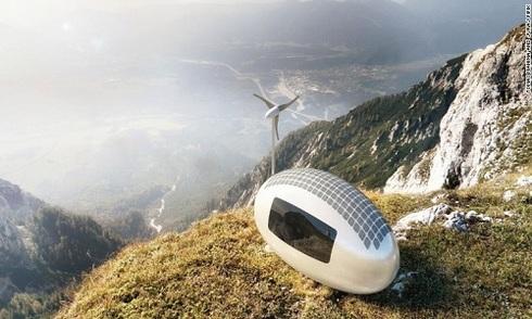 Nhà hình trứng lấy năng lượng từ nắng và gió