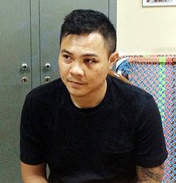 Nguyễn Trung Hậu bị bắt giữ vì đâm người sau va chạm xe. Ảnh: Hải Thuận.