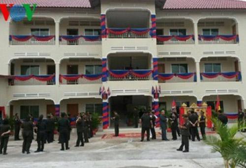 Công trình do Quân khu 7 viện trợ Lữ đoàn 70 Quân đội Hoàng gia Campuchia. Ảnh: VOV