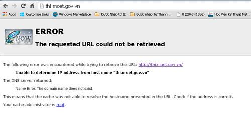 Trang tra cứu điểm thi và website của Bộ Giáo dục bị tê liệt