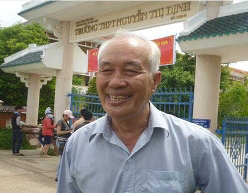 3 năm liền, ông Cảnh là thí sinh dự thi tốt nghiệp THPT lớn tuổi nhất tỉnh Bến Tre. Ảnh: Cửu Long