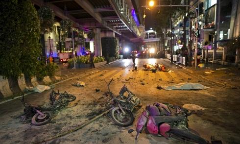 Nhiều du khách châu Á bị thương trong vụ nổ ở Bangkok