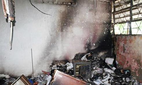Trộm bỏ chạy vì phá két sắt gây cháy công ty