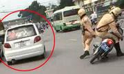 Những cảnh sát truy đuổi ôtô 'điên' như phim hành động