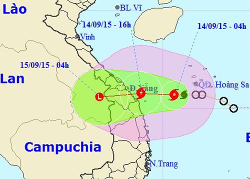 Bão hướng vào Đà Nẵng - Quảng Ngãi