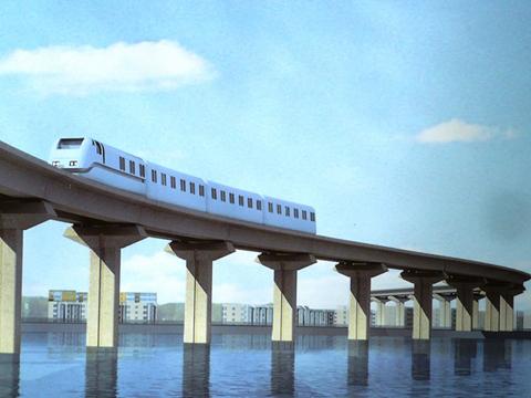 Mô hình mẫu tàu điện Cát Linh, Hà Đông trong tháng 10