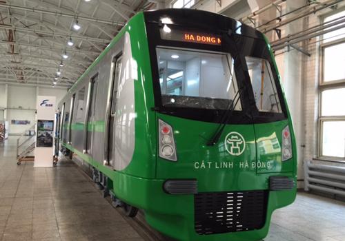 Tàu điện mẫu tuyến Cát Linh - Hà Đông lộ diện
