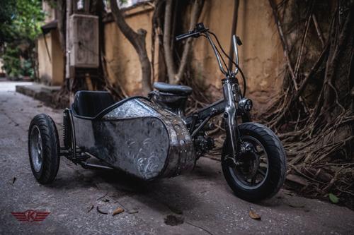 Honda Cub phong cách sidecar của thợ Việt 1