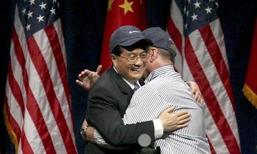 Những khoảnh khắc nhẹ nhõm của lãnh đạo Trung Quốc ở Mỹ 3