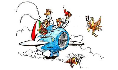 Đại bàng ganh tị với máy bay