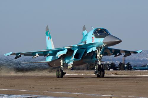 """Su-34, """"xe tăng bay"""" Nga có thể dùng không kích IS 1"""