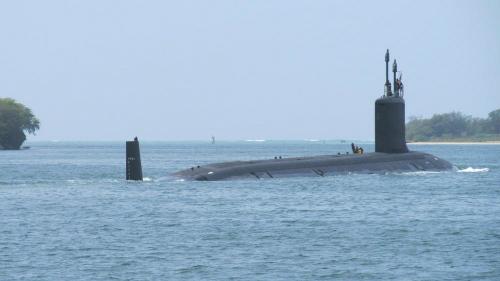 Tàu ngầm Mỹ diễn tập theo dấu tàu ngầm Trung Quốc 1