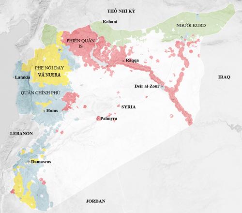 Cùng không kích IS, Nga - Mỹ nguy cơ đụng độ ở Syria 3