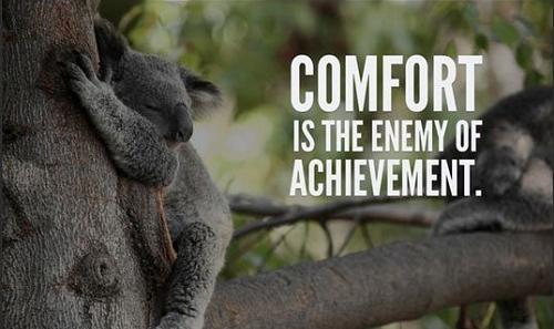 Sống trong an nhàn là kẻ thù của đạt được thành tựu.