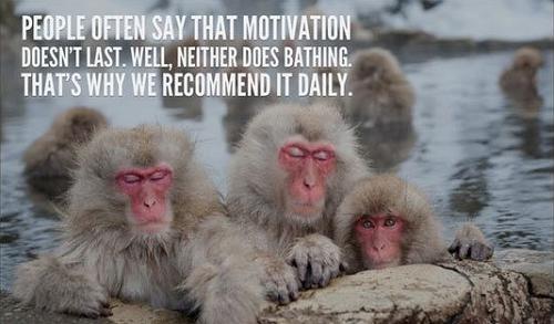 Mọi người thường nói rằng động lực không kéo dài, ngay cả với việc tắm. Đó là lý do chúng ta phải nhắc đến nó hằng ngày.