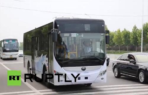 Xe buýt không người lái đầu tiên ở Trung Quốc 1