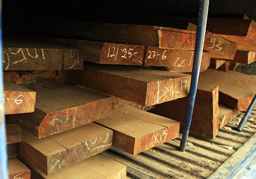 Tài xế bất hợp tác khi bị kiểm tra gỗ nghi nhập lậu 1